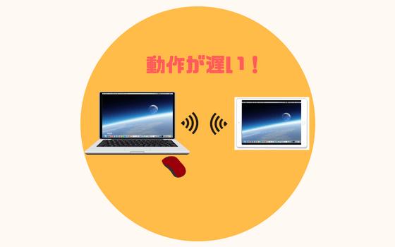 無線接続 ipad yam air サブディスプレイ サブモニター化 デュアルディスプレイ環境 動作 遅い