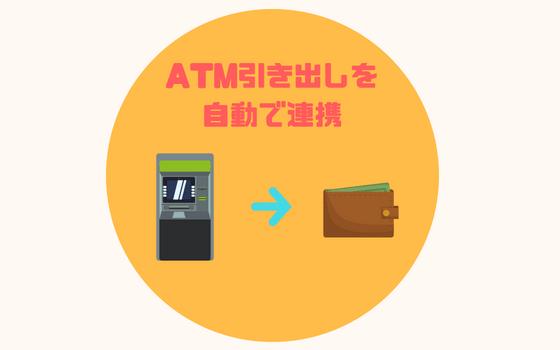 マネーフォワードATMと財布の連動機能